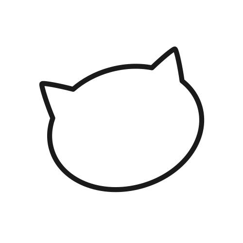 Drawing the face of the cat