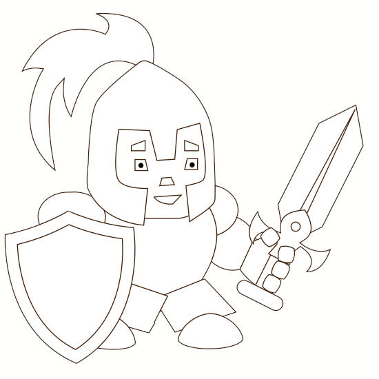 how to draw a knight final step