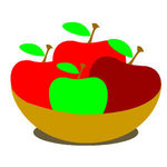 Apples Basket Drawing Tutorial