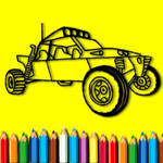 Rally Car Coloring Book