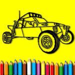 Rally Car Coloring Book