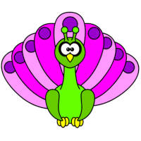 Peacock Coloring Page